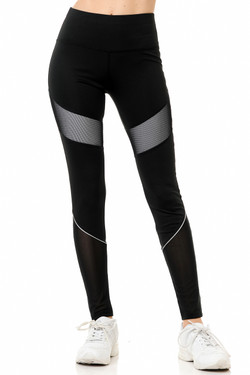 Sexy Black Finesses Athleisure Sport Leggings