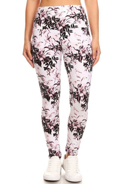 Buttery Soft Blooming Floral Twist High Waist Leggings