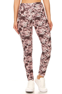 Buttery Soft Beautiful Pink Eden High Waisted Leggings