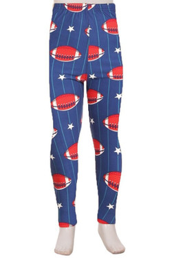 Buttery Soft Football Kids Leggings