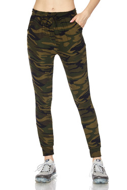 Buttery Soft Olive Green Camouflage Joggers