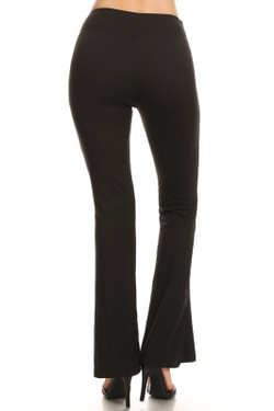 Buttery Soft Basic Black Bell Bottom Leggings