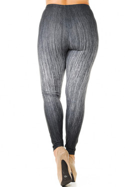 Creamy Soft Vintage Ombre Fade Plus Size Leggings