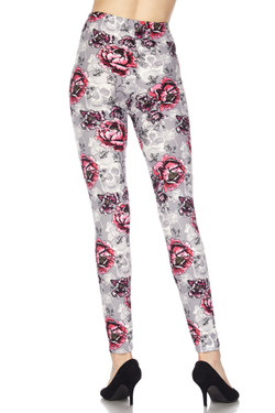 Buttery Soft Haunted Rose Leggings