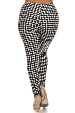 Houndstooth Extra Plus Size Leggings - 3X-5X