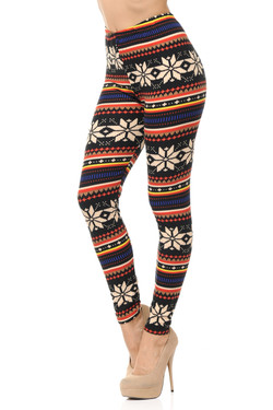 Buttery Soft Autumn Snowflake Plus Size Leggings