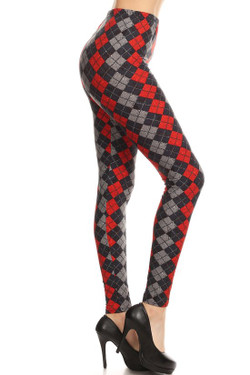 Buttery Soft Diamond Plaid Leggings