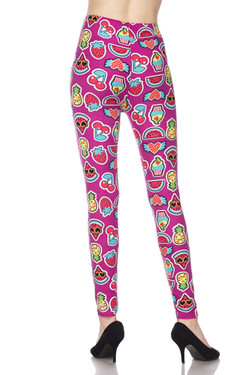 Buttery Soft  Cartoon Fruit Plus Size Leggings - 3X-5X