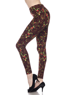 Buttery Soft Christmas Holly Leggings