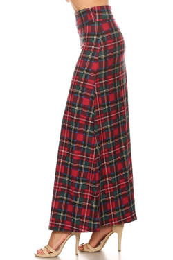 Buttery Soft Modish Plaid Maxi Skirt