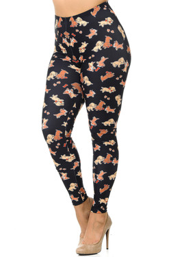 Creamy Soft Playful Puppy Dogs Leggings