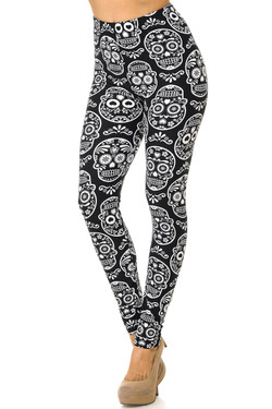 Buttery Soft Symmetrical Sugar Skull Leggings