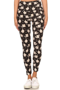 Buttery Soft Bow Tie Kitty Cats High Waisted Leggings