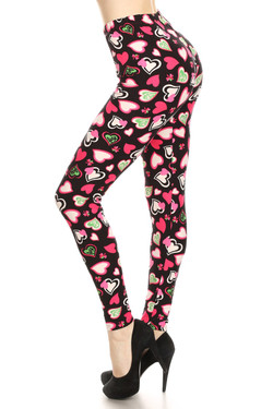 Buttery Soft Cute Valentine Hearts Leggings