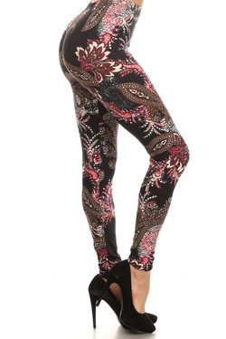 Side Image of Buttery Soft Berry Plume Leggings