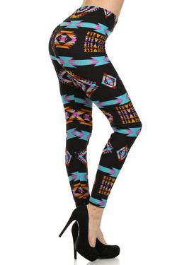 Side Image of Buttery Soft Sacred Tribal Leggings