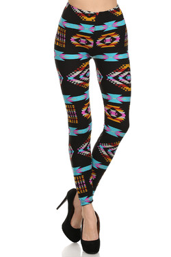 Front image of Buttery Soft Sacred Tribal Leggings