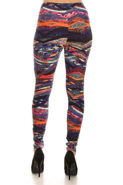 Back image of Buttery Soft Colorful Bands Leggings
