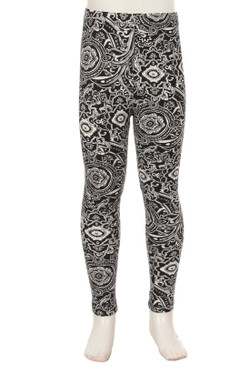 Buttery Soft Ornate Paisley Kids Leggings