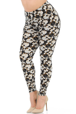 Buttery Soft Ivory Petals Leggings