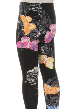 Buttery Soft Beautiful Butterfly Kids Leggings