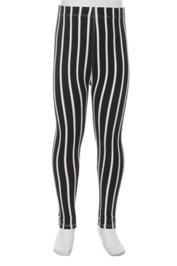 Buttery Soft Black Pinstripe Kids Leggings