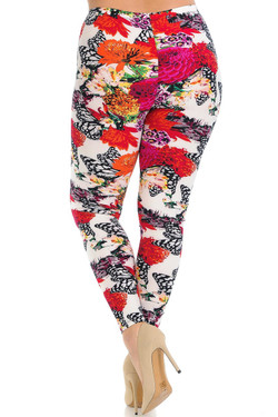 Buttery Soft Butterfly Garden Plus Size Leggings