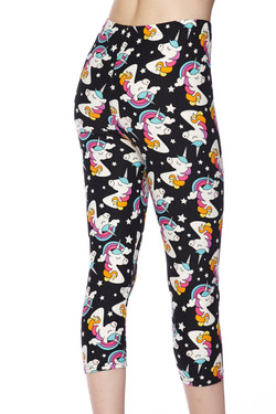 Buttery Soft Dreaming Unicorns Plus Size Capris
