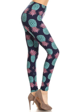 Buttery Soft Teal Pineapple Leggings - EEVEE