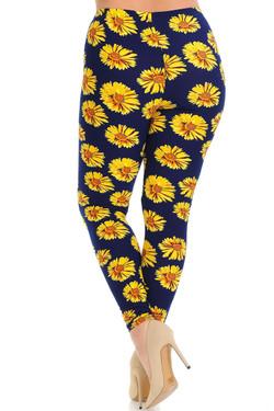 Buttery Soft Summer Daisy Plus Size Leggings