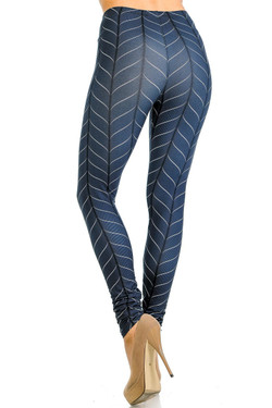 Creamy Soft Vertical Swirl Leggings - Signature Collection