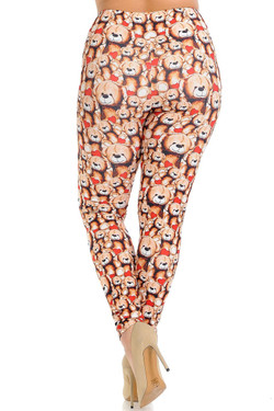 Creamy Soft Teddy Bear Love Plus Size Leggings - Signature Collection