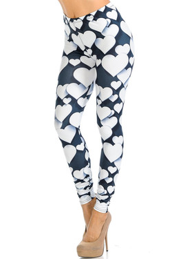 Creamy Soft 3D Hearts Leggings - Signature Collection