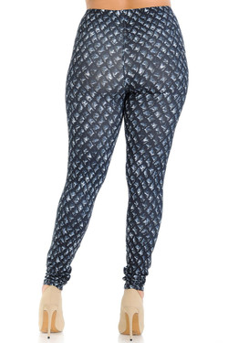 Creamy Soft Black Dragon Scale Plus Size Leggings - Signature Collection