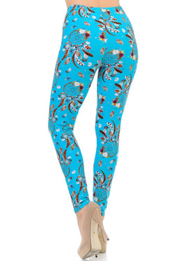 Buttery Soft Blue Sky Dreamcatcher Leggings