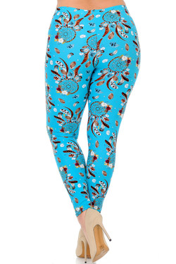 Buttery Soft Blue Sky Dreamcatcher Plus Size Leggings