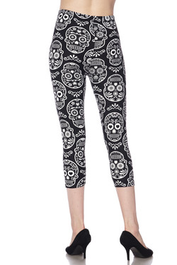 Buttery Soft Symmetrical Sugar Skull Capris