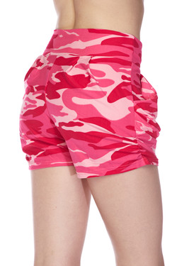 Buttery Soft Pink Camouflage Shorts