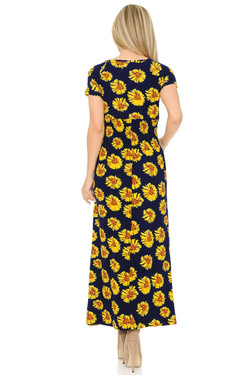 Buttery Soft Short Sleeve Summer Daisy Maxi Dress