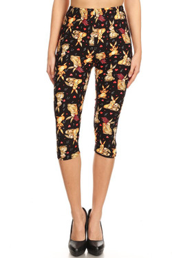 Buttery Soft Easter Bunny Plus Size Capris