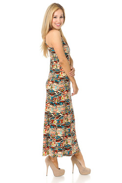 Buttery Soft Conceptual Tribal Maxi Dress - EEVEE