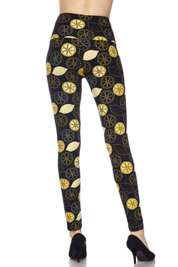 Buttery Soft Juicy Summer Lemons High Waisted Leggings