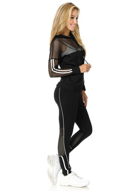 Premium Select Summer Mesh Contour Workout Leggings and Jacket Set
