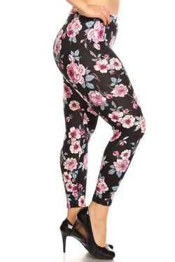 Buttery Soft Perfect Pink Rose Plus Size Leggings