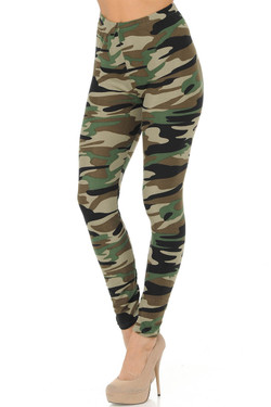 Buttery Soft Risky Business Camo Leggings
