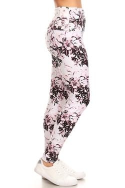 Buttery Soft Pastel Blossom Bloom High Waist Leggings