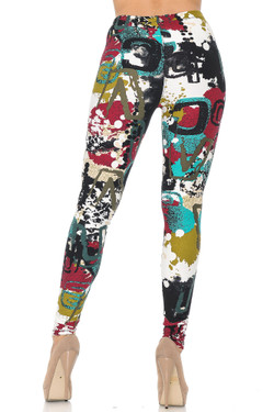 Buttery Soft Summer Picasso Plus Size Leggings