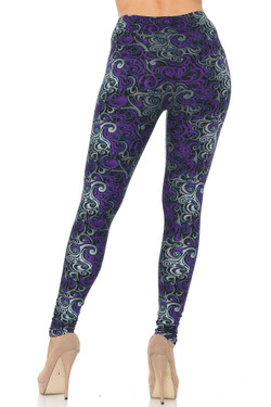 Buttery Soft Purple Tangled Swirl Plus Size Leggings