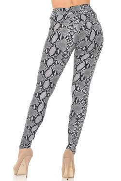 Buttery Soft Python Snakeskin High Waisted Plus Size Leggings