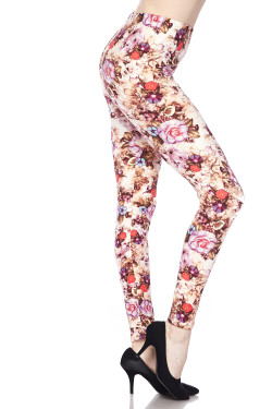 Buttery Soft Ginger Summer Floral Leggings